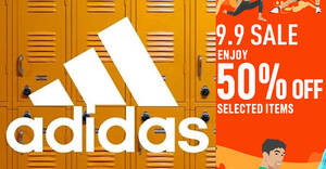 Featured image for Adidas S'pore online 9.9 sale offers 50% discount on selected items till 9 Sep 2021