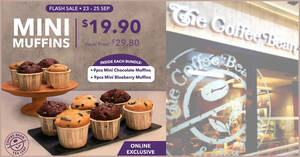 Featured image for Coffee Bean & Tea Leaf S'pore: $19.90 Mini Muffins Bundle (Usual Price: $29.80) flash sale till 25 Sep 2021