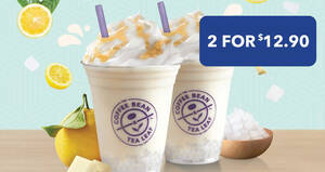Featured image for Coffee Bean & Tea Leaf: $6.45 Honey Yuzu White Chocolate Ice Blended with Nata de Coco when you buy two (From 15 Sep)