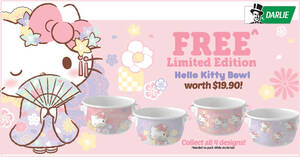 Featured image for Darlie: Free Limited Edition Hello Kitty Kimono Styled bowl with purchase of selected toothpastes (From 1 Sep 2021)
