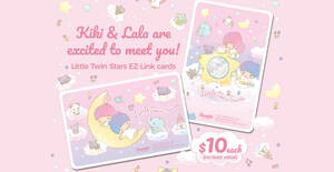 Featured image for EZ-Link releases new Little Twin Stars EZ-Link cards featuring the cute twins, Kiki and Lala from 24 Sep 2021