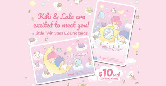EZ-Link releases new Little Twin Stars EZ-Link cards featuring the cute twins, Kiki and Lala from 24 Sep 2021