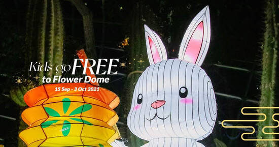 Featured image for Free entry for kids to Gardens by the Bay Flower Dome till 3 Oct 2021
