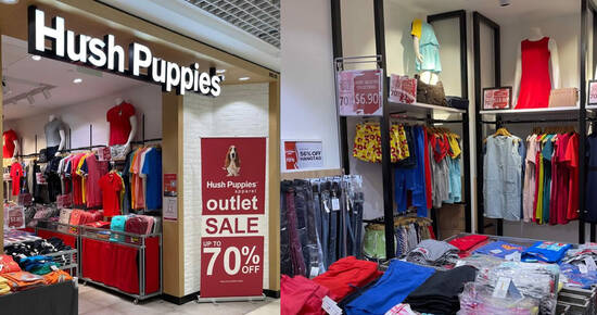 Featured image for Hush Puppies Apparel moving out sale at Parkway Parade till 19 Sep 2021