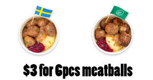Featured image for IKEA Tampines offering $3 6pcs meatballs (Swedish / Plant) at Swedish Bistro from 9 – 19 Sep 2021