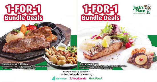 Featured image for Jack's Place is offering exclusive 1-for-1 Bundle Deals for Delivery & Pickup orders (From 2 Sep 2021)