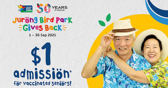 Featured image for Jurong Bird Park is selling $1 admission tickets for fully vaccinated seniors till 30 Sep 2021