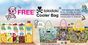 Free limited edition Tokidoki Cooler Bag with purchase of Marigold Peel Fresh juices till 30 Sep 2021