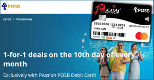 Featured image for POSB PAssion cardholders enjoy 1-FOR-1 offers at All Cathay Cineplexes, S.E.A. Aquarium & more on 10 Sep 2021