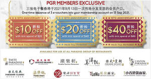 Featured image for Paradise Group is giving away $70 worth of vouchers in celebration of their 10th anniversary till 31 Oct 2021