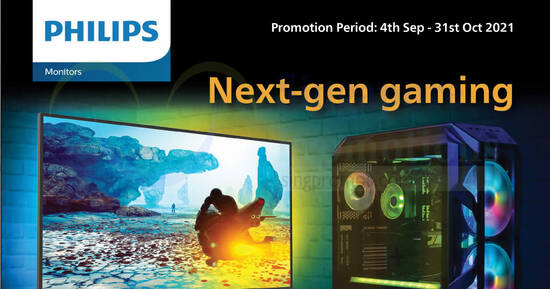 Featured image for Philips Monitors September Island-Wide Promotion till 31 Oct 2021
