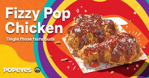 Featured image for Popeyes S'pore launches new Fizzy Pop chicken from 14 Sep 2021