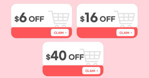 Featured image for Qoo10: Super Sale – grab $6, $16 & $40 cart coupons daily till 26 Sep 2021