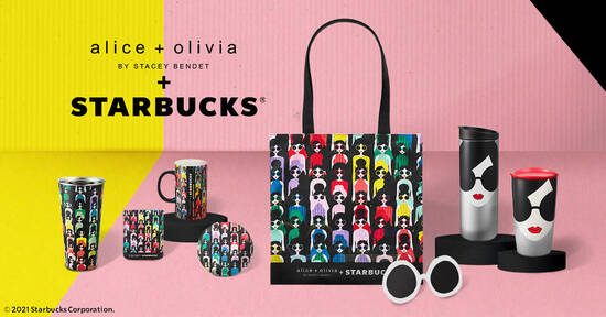 Starbucks® X alice + olivia collaboration is back in two designs at S'pore stores from 30 Sep 2021