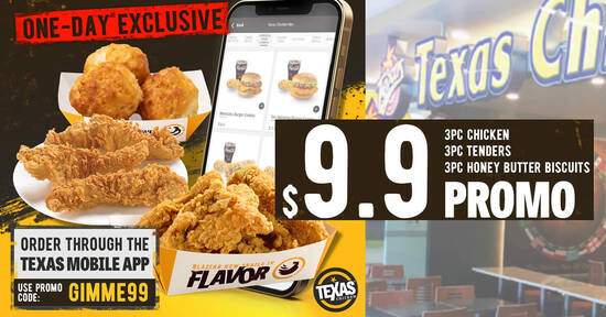 Featured image for Texas Chicken S'pore is offering a $9.90 one-day promo deal on 9 Sep 2021