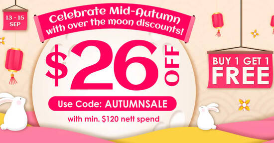 Featured image for Watsons: Get $26 off min $120 orders at online store with this code valid till 15 Sep 2021