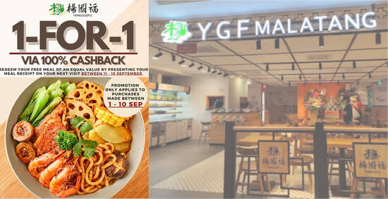 Featured image for Yang Guo Fu Northpoint City is offering 1-FOR-1* Mala Tang from 1 - 10 Sep 2021