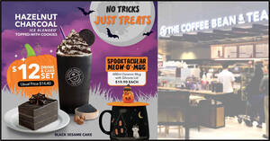 Featured image for Coffee Bean & Tea Leaf S'pore launches new Hazelnut Charcoal Ice Blended drink from 16 Oct 2021