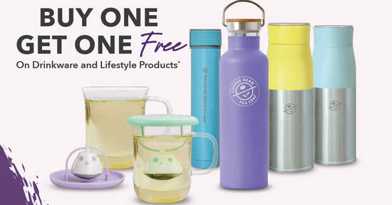 Coffee Bean S'pore offering Buy One Get One Free on selected drinkware and lifestyle products from 21 Oct 2021