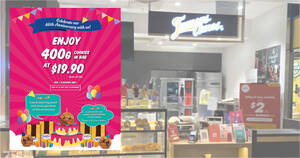 Featured image for Famous Amos: Grab 400g Cookies in Bag with free collectible drawstring pouch at $19.90 from 1 Oct 2021