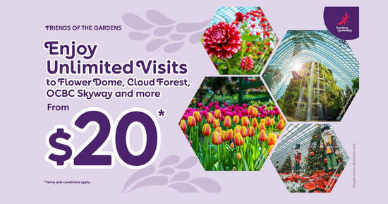 Featured image for Gardens by the Bay is offering Unlimited visits membership at $20 (6 months weekday) or $42 (1 year all-days) till 15 Nov 2021