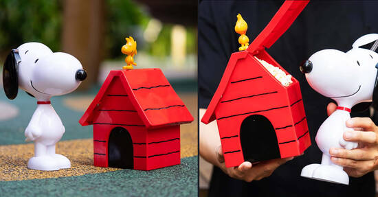 Golden Village is offering Snoopy Tumblers & Doghouse Popcorn Buckets from 17 Oct 2021