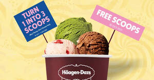 Featured image for Haagen-Dazs is giving away free scoops of ice-cream at the new Waterway Point outlet on 30 Oct 2021