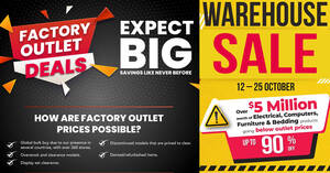 Featured image for Harvey Norman Warehouse Sale Has Over $5 million Worth of Deals Going Below Factory Outlet Prices till 25 Oct 2021