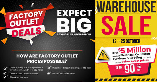 Harvey Norman Warehouse Sale Has Over $5 million Worth of Deals Going Below Factory Outlet Prices till 25 Oct 2021