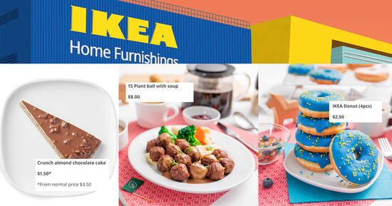 IKEA restaurants offering amazing swede treats at S'pore stores from 21 – 24 Oct 2021