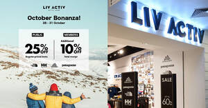 Featured image for LIV ACTIV is offering 25% off regular-priced outdoor gear from The North Face and more till 31 Oct 2021