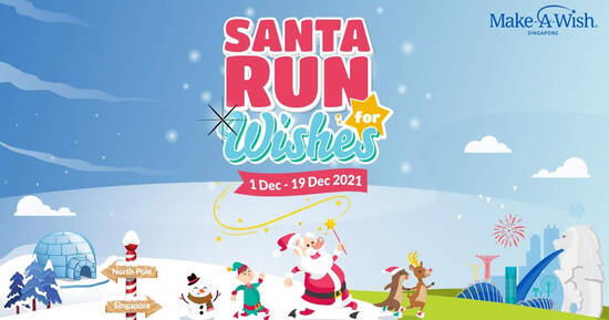 Featured image for Make-A-Wish Singapore announces return of Second virtual Santa Run for Wishes 2021 from 1 - 19 Dec 2021