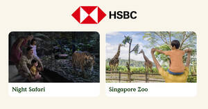 Featured image for Night Safari & Singapore Zoo: 1-for-1 adult/child admission tickets with HSBC cards till 31 Dec 2021