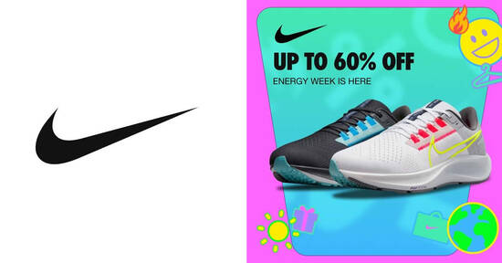 Nike S'pore is offering discounts of up to 60% off at its biggest event of the year till 24 Oct 2021