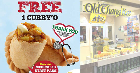 Old Chang Kee is giving away free Curry'O puffs to all healthcare staff at selected outlets till 29 Oct 2021
