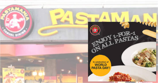 PastaMania: Enjoy 1-for-1 on all pastas from now till 29 Oct 2021