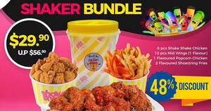 Featured image for Shake Shake In A Tub Launches New $29.90 (48% Off) Fried Chicken Bundle from 20 Sep 2021