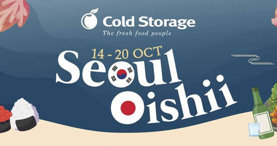 Taste the wonders of Japanese and Korean cuisine with these deals at Cold Storage till 27 Oct 2021